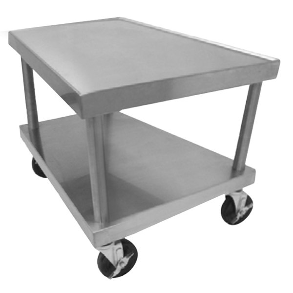 "Vulcan STAND/C-24 30"" x 26"" Stainless Steel Mobile Equipment Stand"