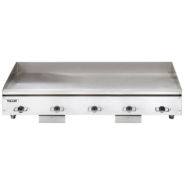 "Vulcan HEG60E 60"" Electric Countertop Griddle with Snap-Action Thermostatic Controls - 208V, 3 Phase, 27 kW Main Image 1"