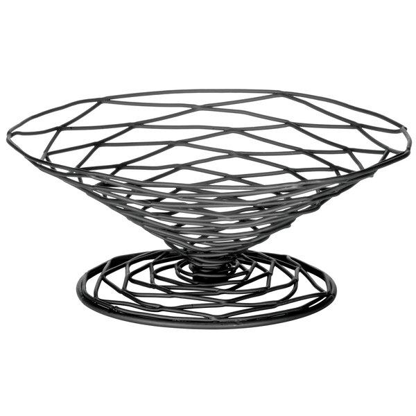 """Tablecraft BK194 Artisan Round Appetizer Wire Cone Basket - 9"""" x 4"""""""