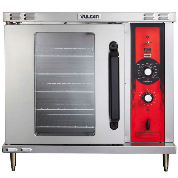 Vulcan ECO2D 208 3 Single Deck Half Size Electric Convection Oven With Solid State Controls 208V 3 Phase 5 5 KW