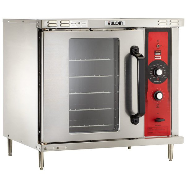 Vulcan GCO2D-LP Liquid Propane Single Deck Half Size Gas Convection Oven with Solid State Controls - 25,000 BTU Main Image 1