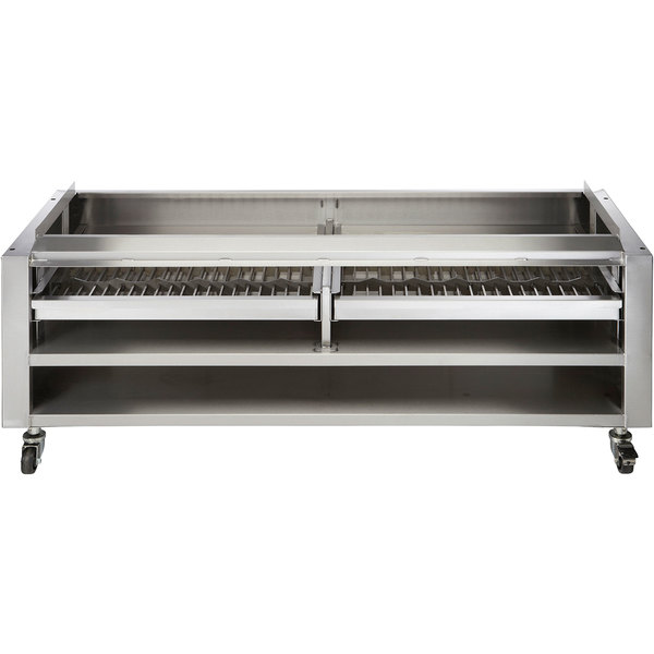 """Vulcan SMOKER-VCCB72 Achiever Series 72"""" Wood Assist Stand with Two Wood Trays Main Image 1"""