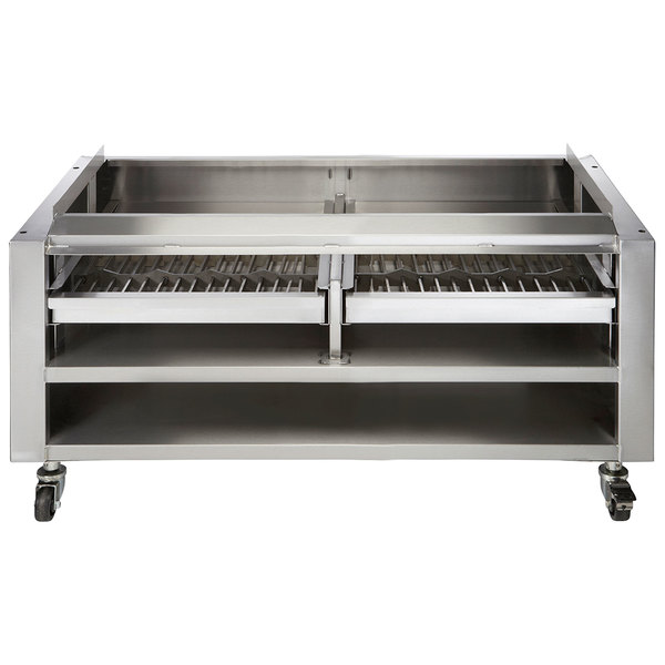 """Vulcan SMOKER-VCCB47 Achiever Series 46 3/4"""" Wood Assist Stand with Two Wood Trays Main Image 1"""