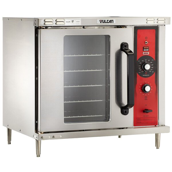 Vulcan ECO2D-240/1 Single Deck Half Size Electric Convection Oven with Solid State Controls - 240V, 1 Phase, 5.5 kW Main Image 1