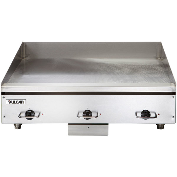 """Vulcan HEG36E 36"""" Electric Countertop Griddle with Snap-Action Thermostatic Controls - 208V, 3 Phase, 16.2 kW"""
