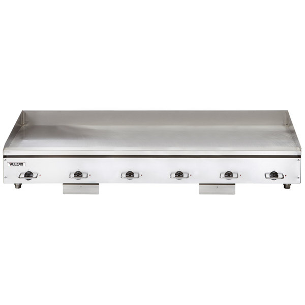 "Vulcan HEG72E 72"" Electric Countertop Griddle with Snap-Action Thermostatic Controls - 480V, 3 Phase, 32.4 kW"