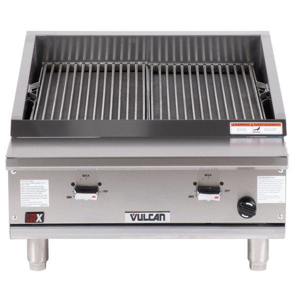 "Vulcan VTEC25 Natural Gas 25"" Infrared Charbroiler - 44,000 BTU"