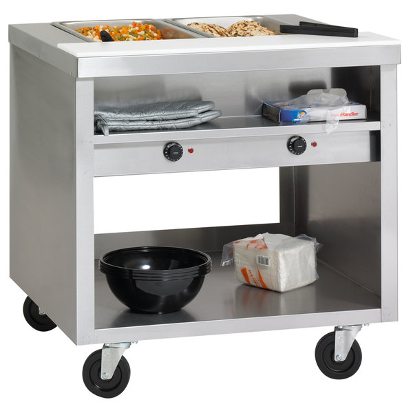 Delfield EHEI48C E-Chef 3 Pan Sealed Well Electric Steam Table with Casters - 208/230V