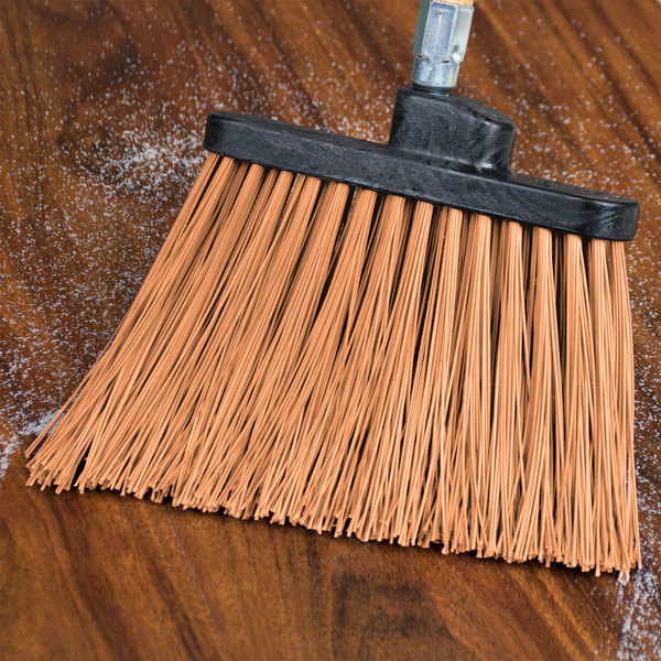 Carlisle 3686825 Duo-Sweep Heavy-Duty Angled Broom Head with Unflagged Tan Bristles