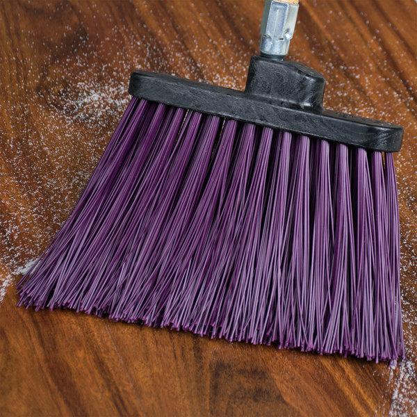 Carlisle 3686868 Duo-Sweep Heavy-Duty Angled Broom Head with Unflagged Purple Bristles