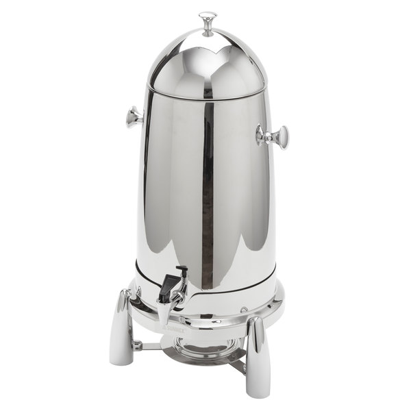 "American Metalcraft REVLOSCU12 Evolution 12 Qt. Round Stainless Steel Coffee Urn - 13 3/8"" x 11"" x 21 1/4"" Main Image 1"
