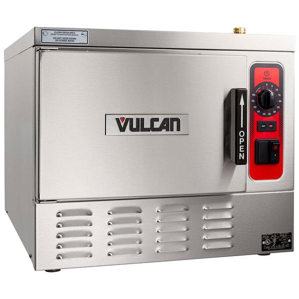 Vulcan C24EA3-1300 LWE 3 Pan Electric Countertop Convection Steamer - 208V, 8.5 kW Main Image 1