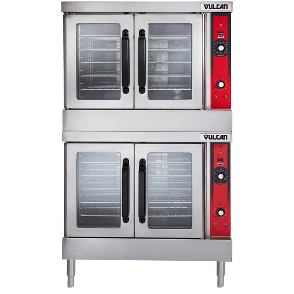 Vulcan VC44ED 480 3 Double Deck Full Size Electric Convection Oven With Solid State Controls 480V 25 KW