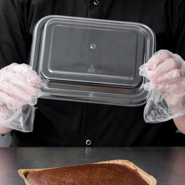 Solut 00083 Clear Plastic Entree / Brownie Pan Lid - 180/Case