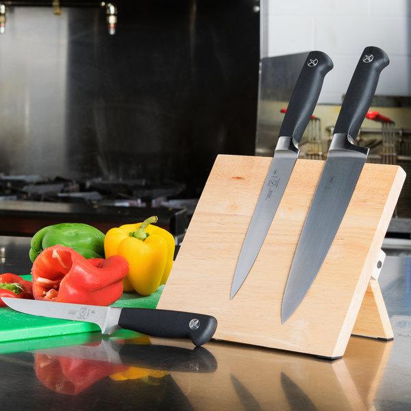 "Mercer Culinary M30720 9 1/2"" x 8 5/8"" Rubberwood Magnetic Knife Rack Main Image 9"