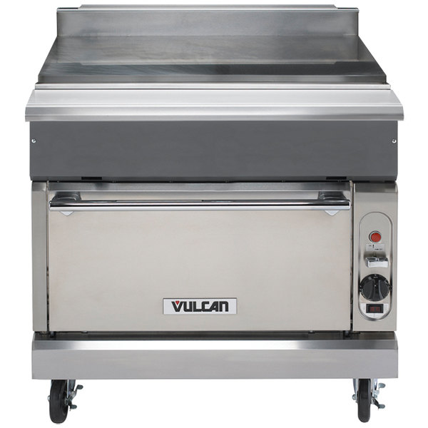 "Vulcan VWT36C-NAT V Series Natural Gas 36"" Spreader Cabinet with Convection Oven - 32,000 BTU"