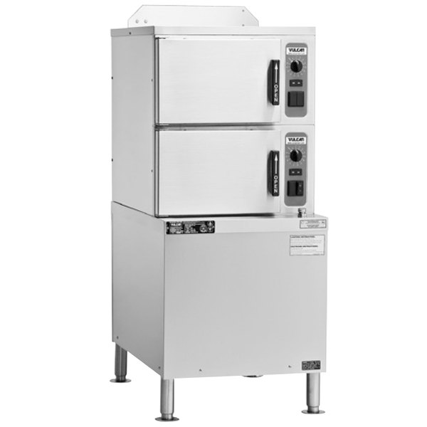 Vulcan C24EA6-DLX 6 Pan Electric Floor Convection Steamer with Professional Controls - 208V, 16.9 kW