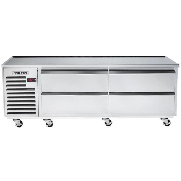 "Vulcan VSC84 84"" 4 Drawer Refrigerated Chef Base"