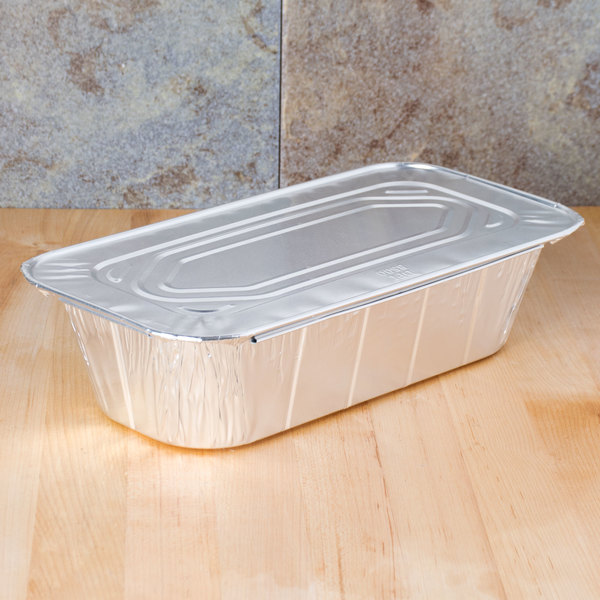 1/3 Size Foil Steam Table Pan Lid - 20/Pack