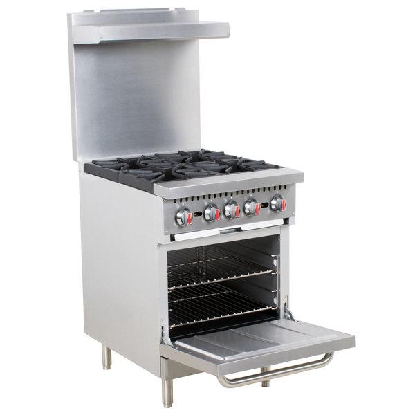 Cooking Performance Group S24-L Liquid Propane 4 Burner 24\