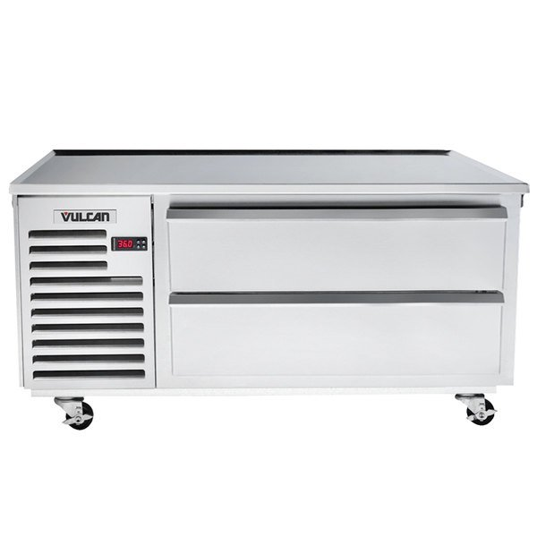"Vulcan VR60 60"" 2 Drawer Remote Cooled Refrigerated Chef Base"