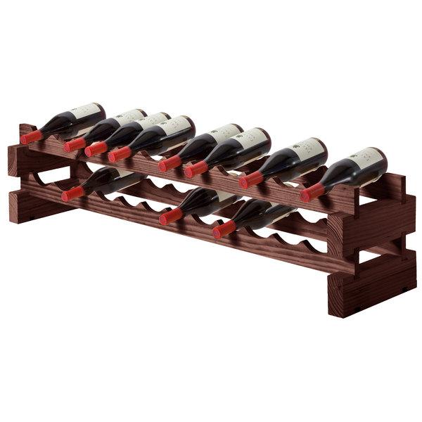 Franmara 4536DSET Modularack Basic 24 Bottle Stained Wooden Modular Wine Rack