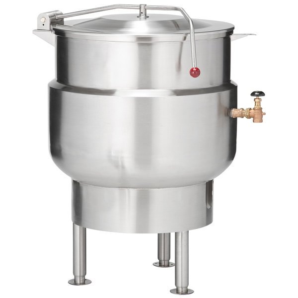 Vulcan K60DL Direct Steam 60 Gallon Stationary 2/3 Steam Jacketed Kettle Main Image 1