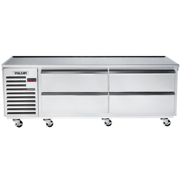 "Vulcan VR84 84"" 4 Drawer Remote Cooled Refrigerated Chef Base"