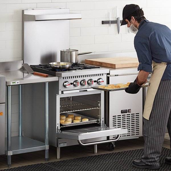 "Cooking Performance Group S24-N Natural Gas 4 Burner 24"" Range with Standard Oven - 150,000 BTU Main Image 5"