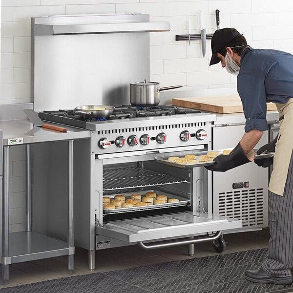"Cooking Performance Group S36-N Natural Gas 6 Burner 36"" Range with Standard Oven - 210,000 BTU Main Image 5"