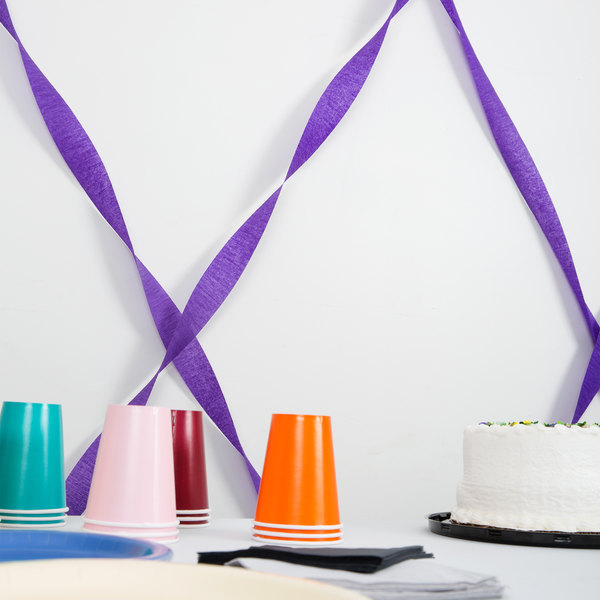 Creative Converting 078130 81' Purple Streamer Paper - 12/Case