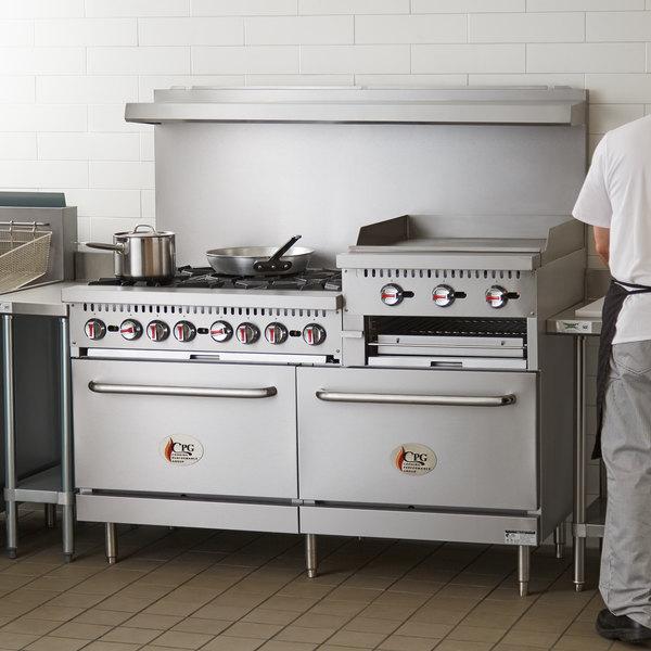 Cooking Performance Group S60-GS24-L Liquid Propane 6 Burner 60\