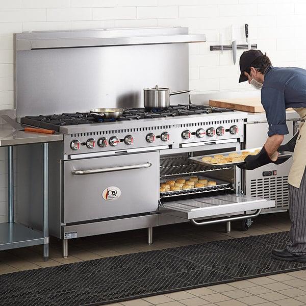 "Cooking Performance Group S60-N Natural Gas 10 Burner 60"" Range with 2 Standard Ovens - 360,000 BTU"