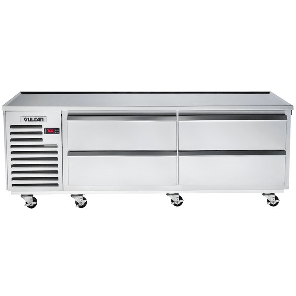 """Vulcan ARS84 84"""" 4 Drawer Refrigerated Chef Base"""