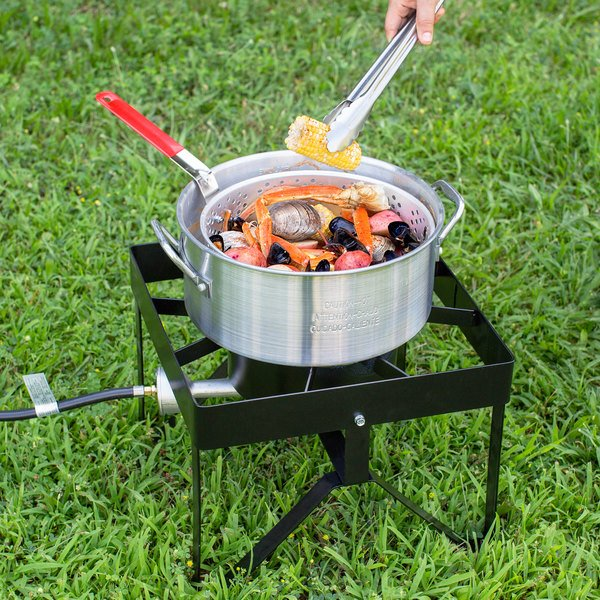 Many Accessories 55,000 BTU Deluxe 30 Qt Turkey Deep Fryer Set Thanksgiving Outdoor Cooking