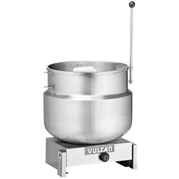 Vulcan K12DTT Direct Steam 12 Gallon Tilting 2/3 Steam Jacketed Kettle