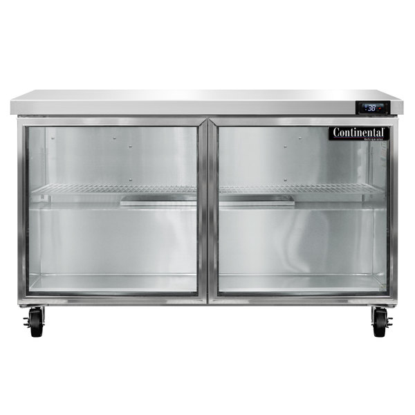 """Continental Refrigerator SW48-GD 48"""" Undercounter Refrigerator with Glass Doors"""