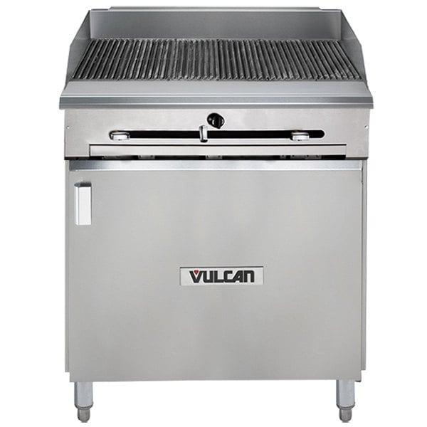 "Vulcan VTC24B-LP Liquid Propane 24"" Gas Floor Model Infrared Charbroiler with Cabinet Base - 44,000 BTU"