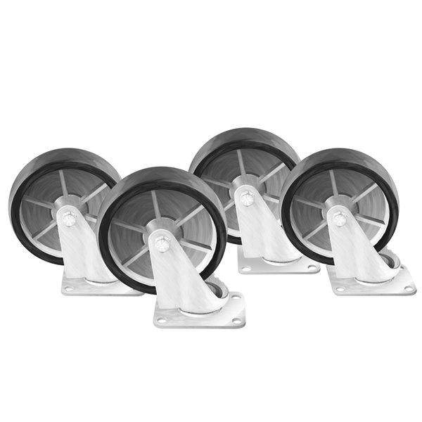 """Arctic Air 67000K 5 3/4"""" Plate Casters - 4/Set"""