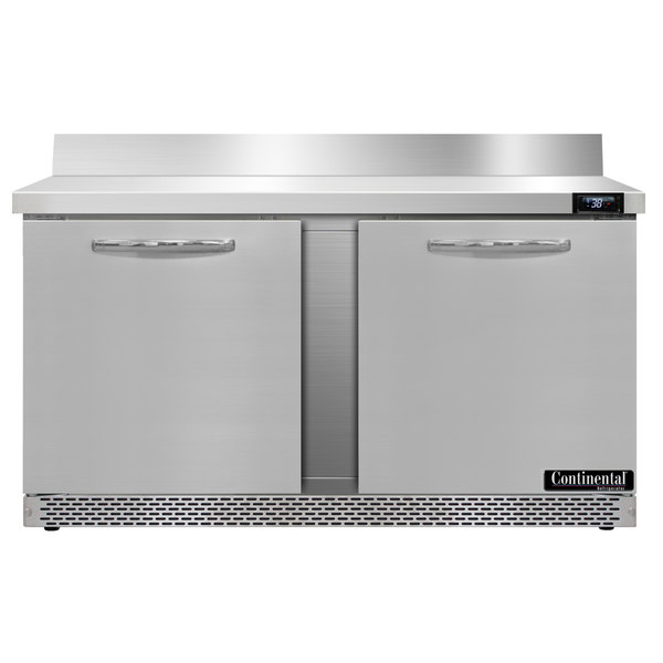 "Continental Refrigerator SW60-BS-FB 60"" Front-Breathing Worktop Refrigerator - 17 cu. ft. Main Image 1"