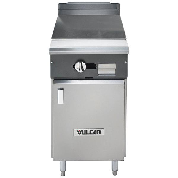 "Vulcan V118HB-LP V Series Liquid Propane Heavy-Duty Range with 18"" Hot Top and Cabinet Base - 30,000 BTU"