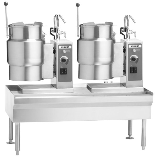 """Vulcan VEKT64/1212 64"""" Table with (2) 12 Gallon Electric Tilting Kettles - 208V, 24 kW"""