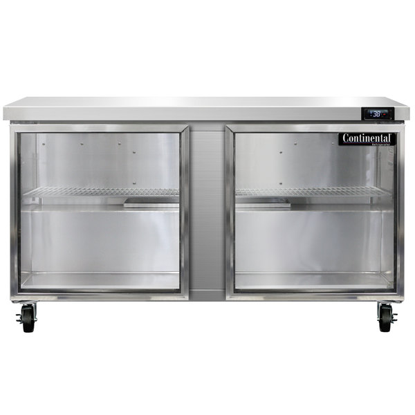 """Continental Refrigerator SW60-GD 60"""" Undercounter Refrigerator with Glass Doors"""