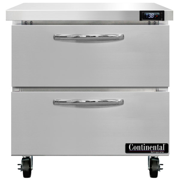 """Continental Refrigerator SW32-D 32"""" Undercounter Refrigerator with Two Drawers"""