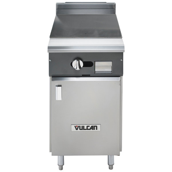 "Vulcan V118HB-NAT V Series Natural Gas Heavy-Duty Range with 18"" Hot Top and Cabinet Base - 30,000 BTU"