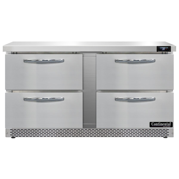"Continental Refrigerator SW60-FB-D 60"" Front Breathing Undercounter Refrigerator with Four Drawers"