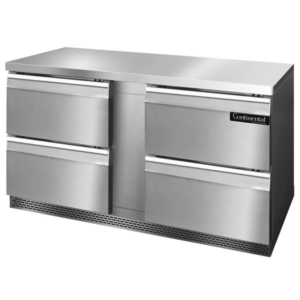 """Continental Refrigerator SW60-FB-D 60"""" Front Breathing Undercounter Refrigerator with Four Drawers"""