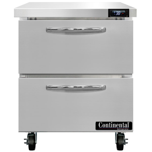 """Continental Refrigerator SW27-D 27"""" Undercounter Refrigerator with Two Drawers"""