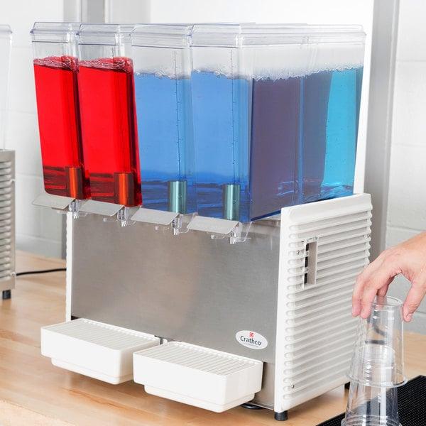 Crathco Mini-Quad E-49-4 Quadruple 2.4 Gallon Bowl High Impact Plastic Cold Beverage Dispenser