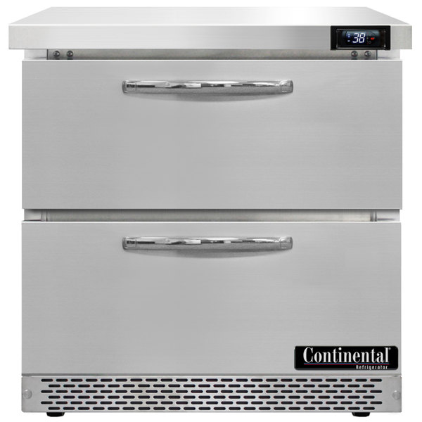 """Continental Refrigerator SW32-FB-D 32"""" Front Breathing Undercounter Refrigerator with Two Drawers"""